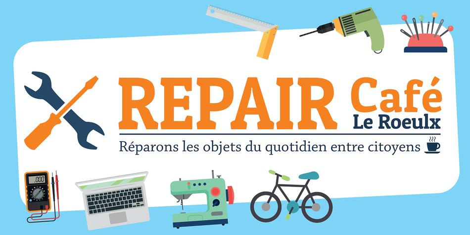 Flyer Repair Cafe Le Roeulx recto