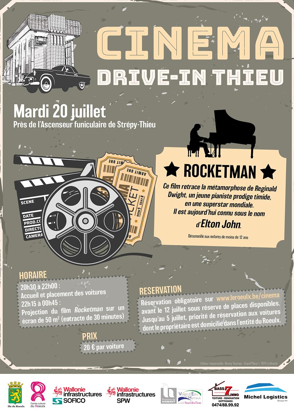 Affiche Cinema drive in 2021 w