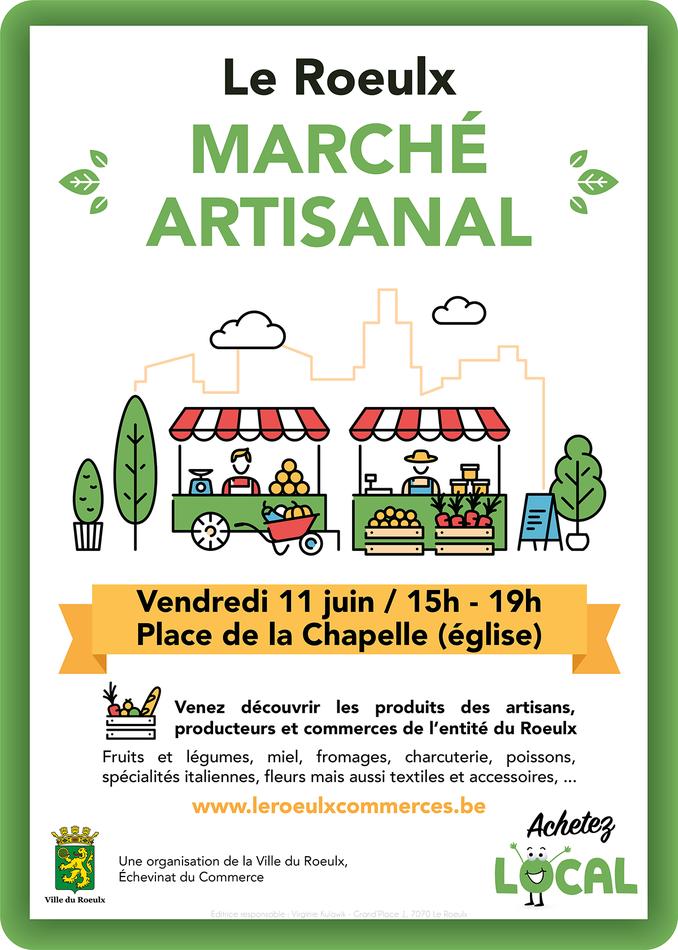 Affiche Marche artisanal 11 juin 2021